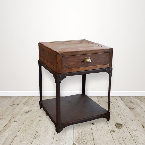 Industrial Recycled Pine Bedside Table