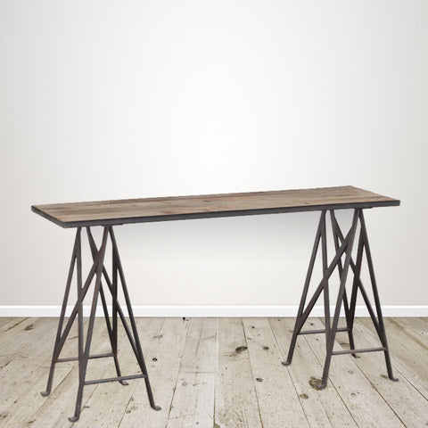 Recycled Pine Industrial Console