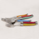 Laguiole Multicoloured Table Forks Set of 6