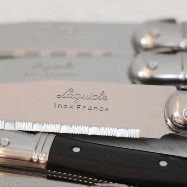 Laguiole Black Table Knives Set of 6