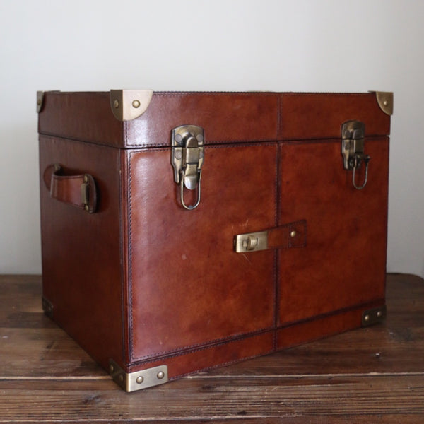 Leather Minibar with Bar Tools
