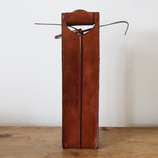 Handmade Leather Wine Bottle Holder