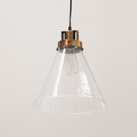 Apartmento Glass Hanging Light in Brass Finish