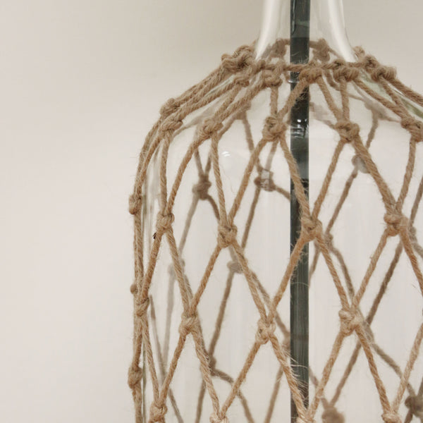 Glass lamp with Rope Detail with Complimentary Shade