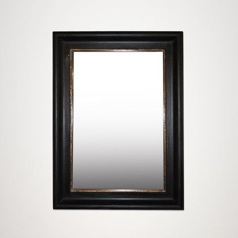 Antique Black and Gold Rectangular Mirror
