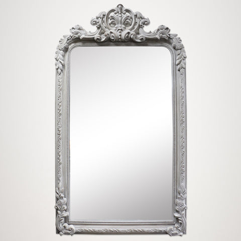 Light Grey English Mantle Style Mirror