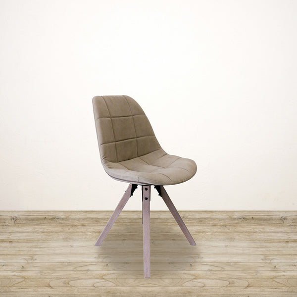 Stone Wash Canvas Safari Chair with Grey Oak Legs