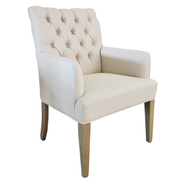 Reims Arm Chair with Natural Oak Legs