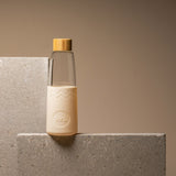 SoL Glass Water Bottle in Coastal Cream