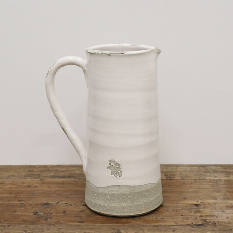 Antique White Provincial Style Jug Large