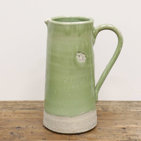 Antique Green Provincial Style Jug Large