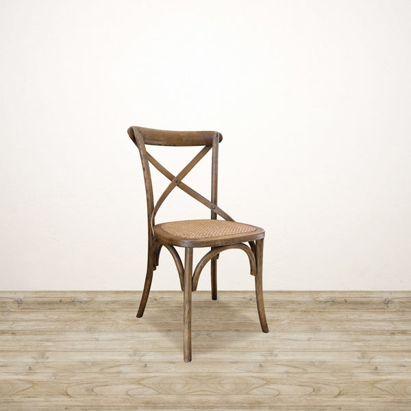 Vienna Elm Chair Wooden Cross Back