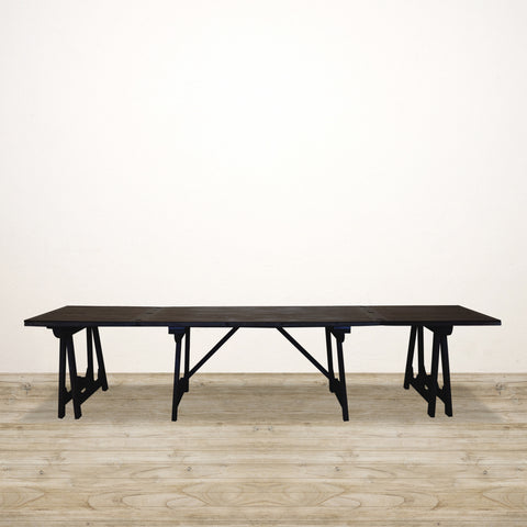 Loire Trestle Dining Table in Black