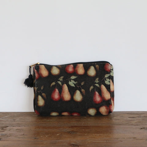 Raphael Vintaged Velvet Cosmetic Bag