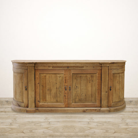 Tuscan Sideboard in Old Recycled Pine with 4 Cupboards