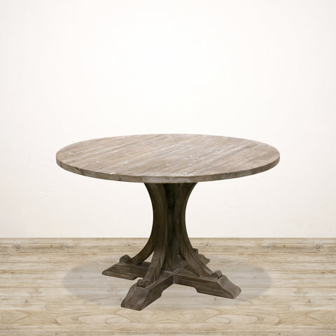 Hamptons Round Dinning Table with Pedestal Base