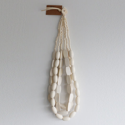 Wilson Wooden Necklace in White