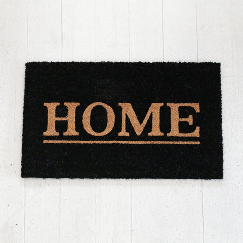 """Home"" Black Doormat"