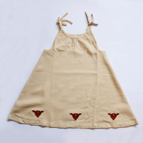 Donsje  Cecil Deer Dress in Natural Linen
