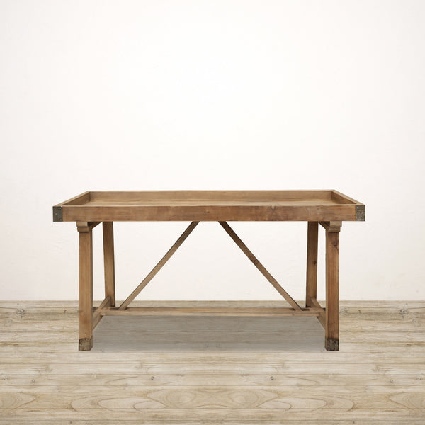 Devon Console in Recycled Pine with Cross Base