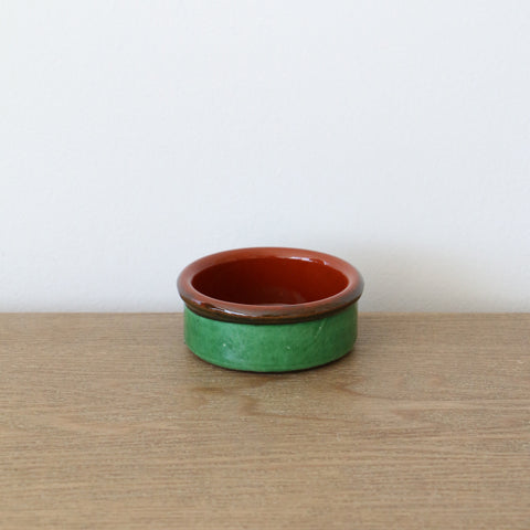 Handmade Spanish Tapa Dish 6cm in Green