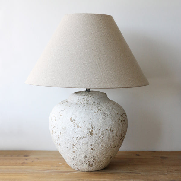 Tuscan Style Medium Stone Lamp