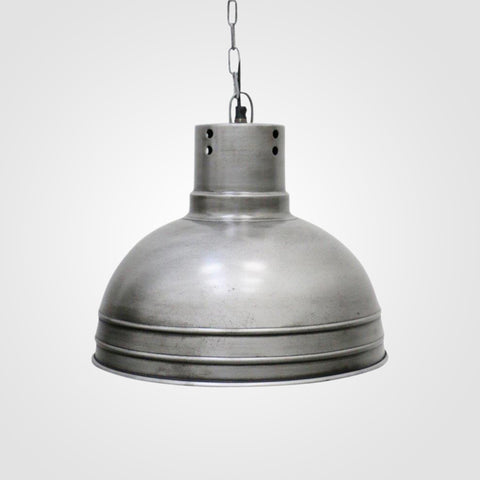 Industrial Brushed Pewter Finish Hanging Lamp