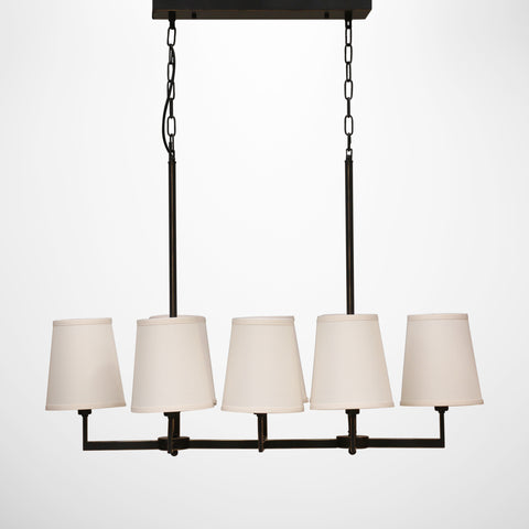 Black Milano 8 Light Chandelier with Shades