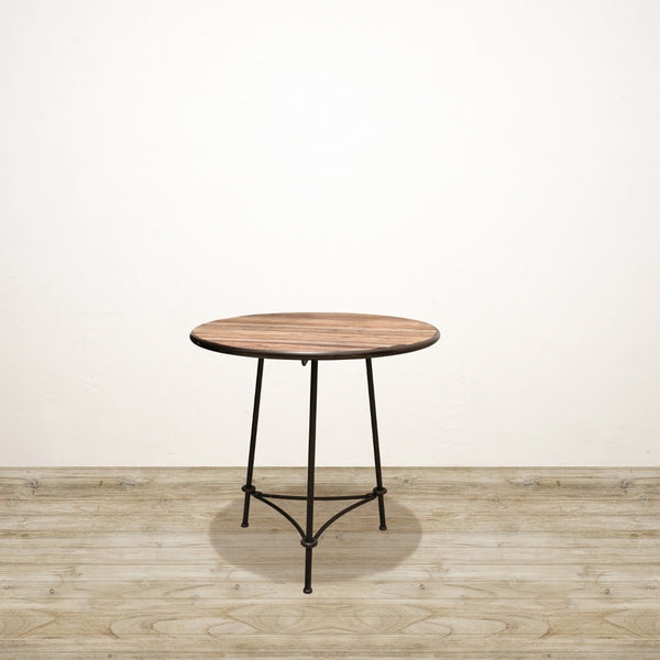 Medium Recycled Pine and Metal Industrial Dining Table