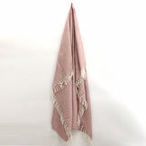 Wool Beehive Throw in Dusky Pink