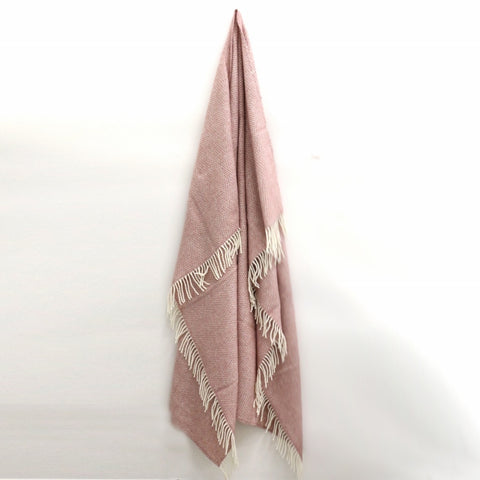 Wool Beehive Throw in Dusky Pink -  Due end of May