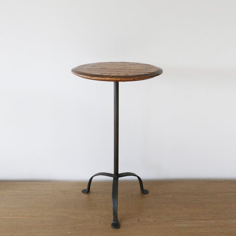 New Zealand Made Parisian Barrel Top Table 30cm Height Adjustable