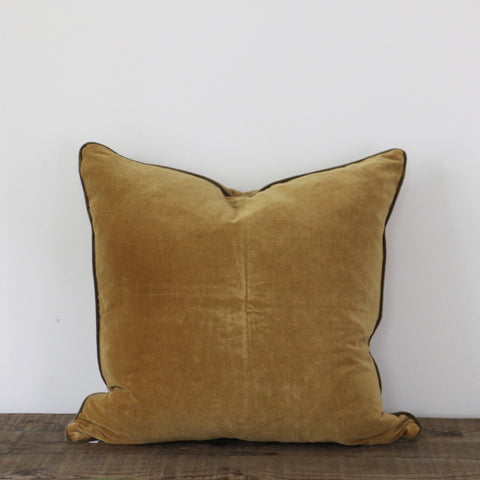 Gold & Olive Velvet Cushion Cover