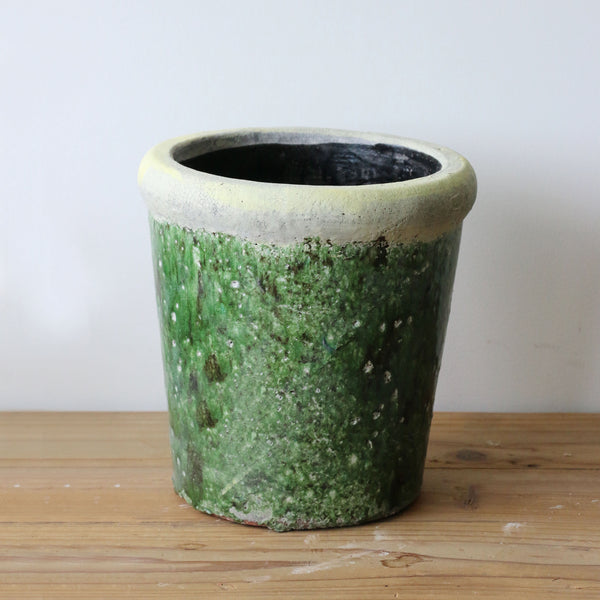 Tuscan Style Large Stone Green Planter