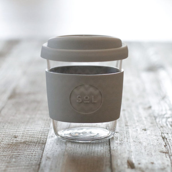 Sol Reusable Coffee Cup Cool Grey