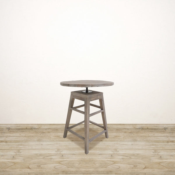 Recycled Elm Adjustable Occasional Table