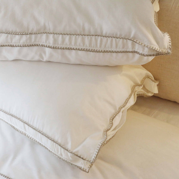 Flamant Feston Sand 2 x  Standard Pillow Case Set