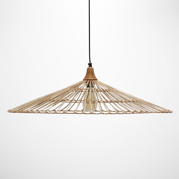 Bali Coolie Style Rattan Hanging Light