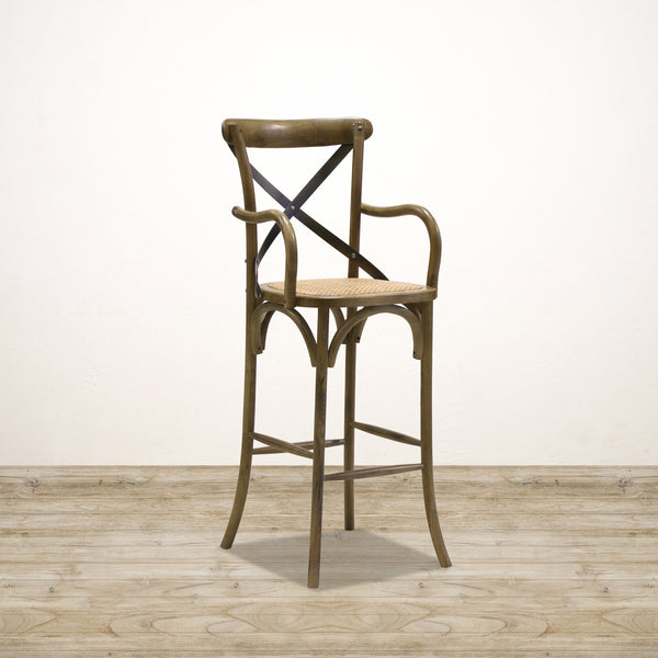 Vienna Cross Back Barstool in Elm