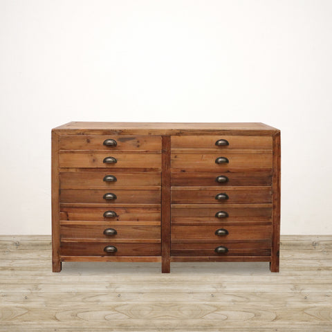 Printmakers Drawer Sideboard in Recycled Pine