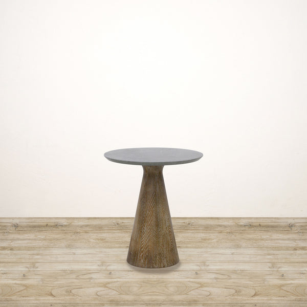 Costa Reclaimed Oak Base Occasional Table with Blue Stone Top