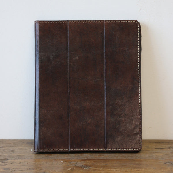 Leather iPad Case Dark Walnut
