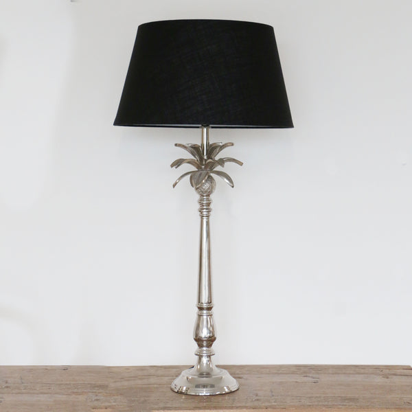 Lamp with Pineapple Leaves in Nickel Finish