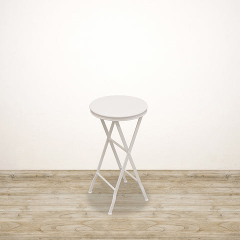 Petite Metal Occasional Table in White