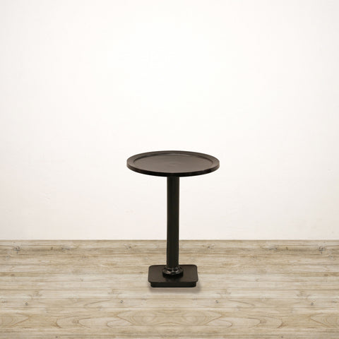 Round Side Table in Antiqued Bronze Finish