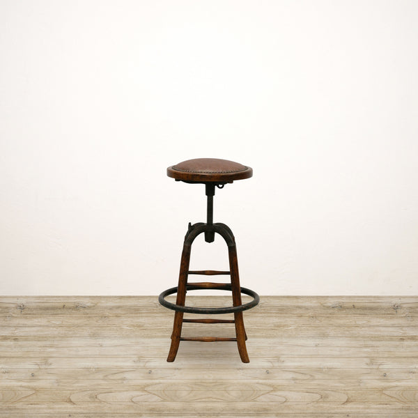 Cambridge Bar Stool with Leather Seat