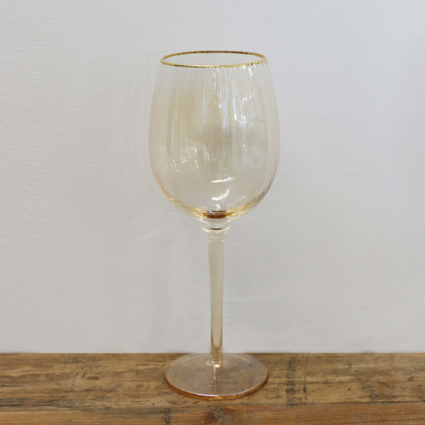 Gold Dust Wine Glass