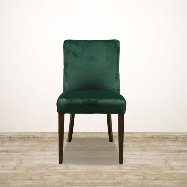 Bastide Chair in Emerald Green Velvet with Oak Legs