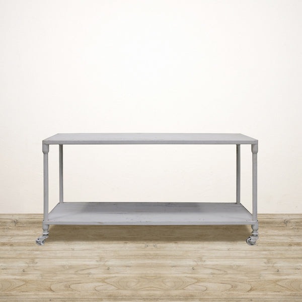 Industrial Recycled Pine Console in White Wash