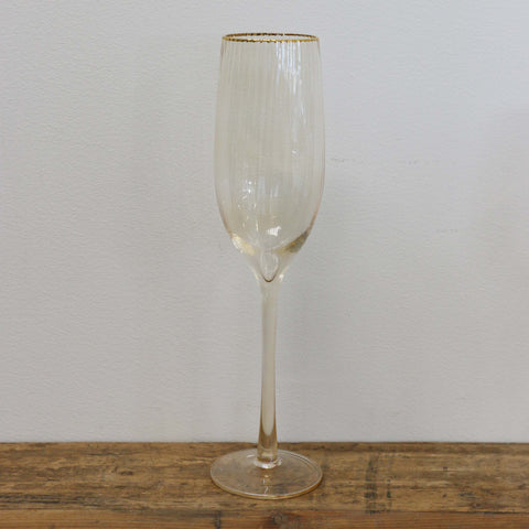 Gold Dust Champagne Glass